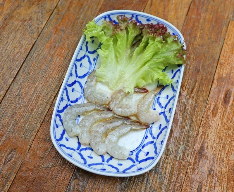 Gamberetto piccante dell'insalata della Tailandia dei frutti di mare in salsa di pesce immagine stock