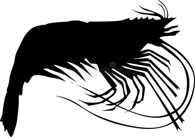 Gambero illustrazione vettoriale