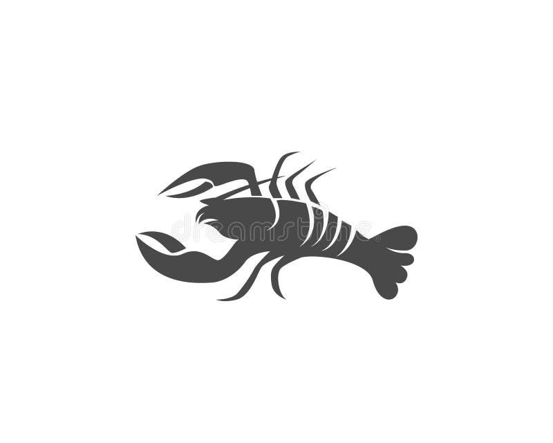 Gambero dell'icona Aragosta illustrazione vettoriale