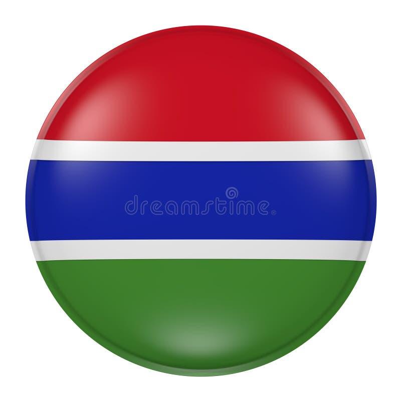 Gambia knapp på vit bakgrund vektor illustrationer