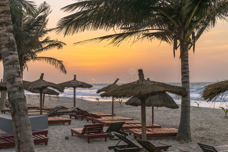 Gambia strand fotografering för bildbyråer