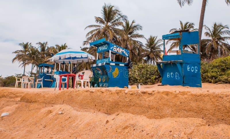 Gambia van West-Afrika - Paradijsstrand stock fotografie