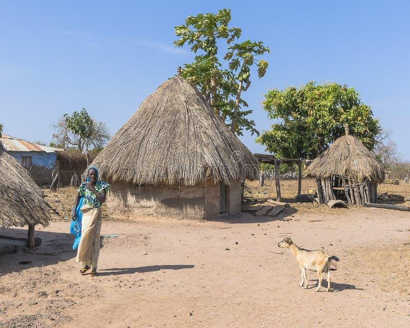 Gambiaans dorp royalty-vrije stock afbeeldingen