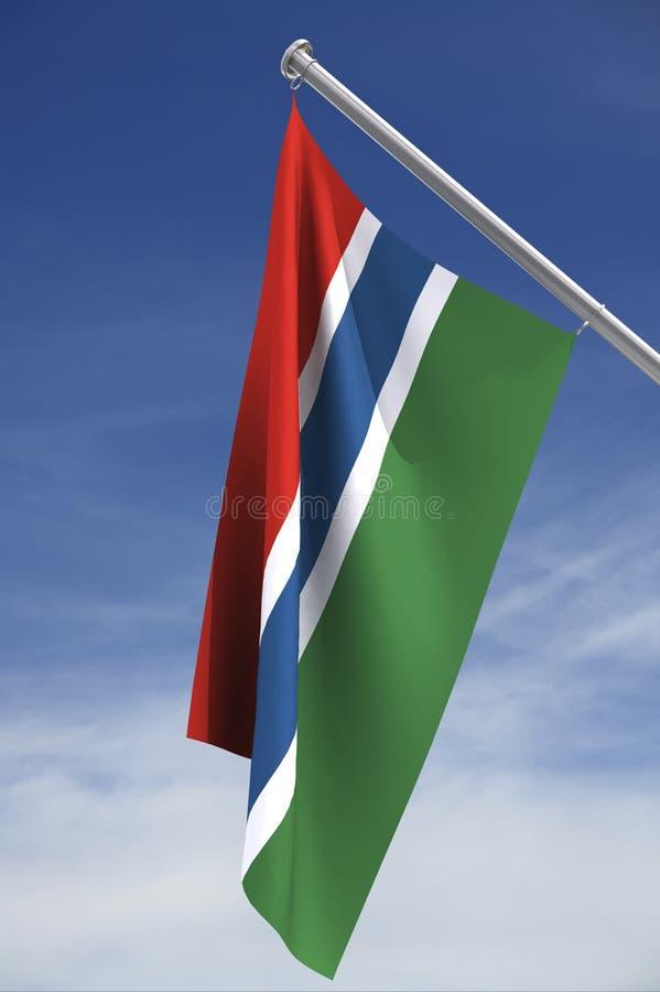Gambiaanse vlag royalty-vrije illustratie