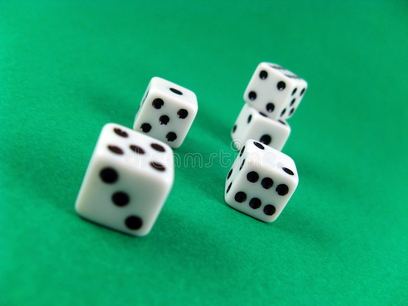Gamble Casino Cubes Royalty Free Stock Images