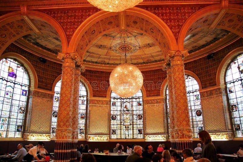 Gamble Restaurant at Victoria and Albert museum, London stock images