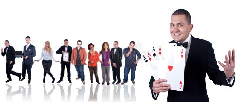 Download Gambler stock image. Image of woman, people, poker, aces - 13774635