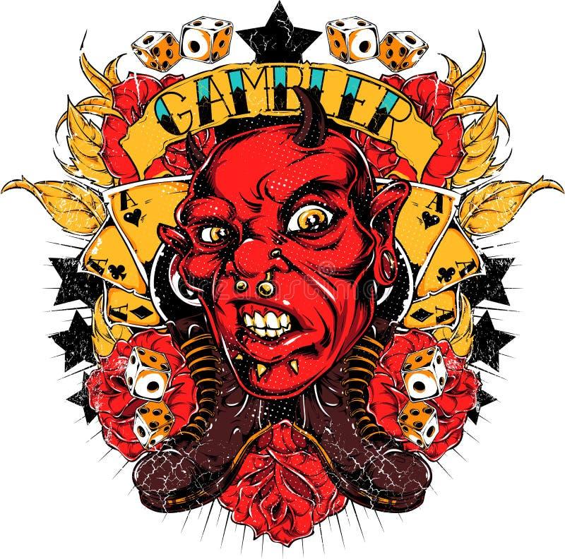Gambler devil stock illustration