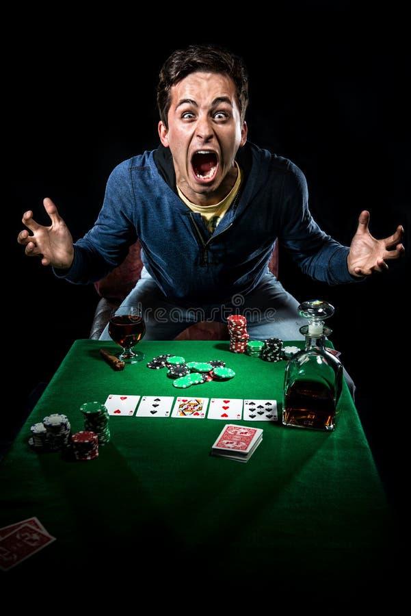 Gambler indoors stock image