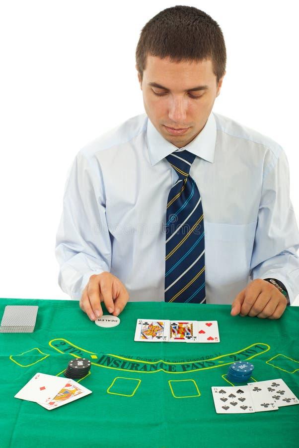 Gambler man in casino