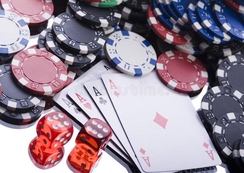 Gambling. Casino - a place where you can win or lose money stock photo