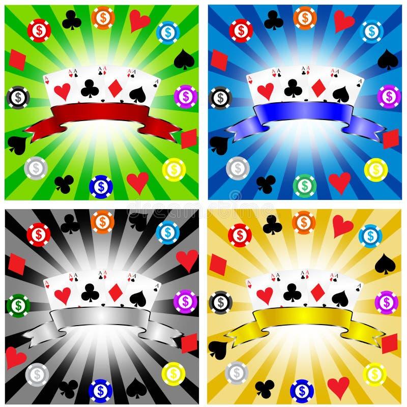 Gambling banner stock illustration