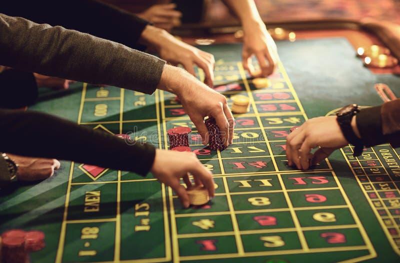 Gambling Betting Roulette-tabel Casino stock afbeelding