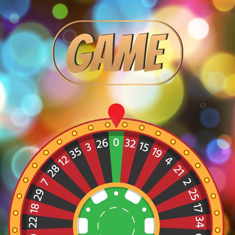 Gambling casino vector illustration. Casino roulette gamble concept on colored blurred background. Red and black. Gambling casino vector illustration. Playing vector illustration