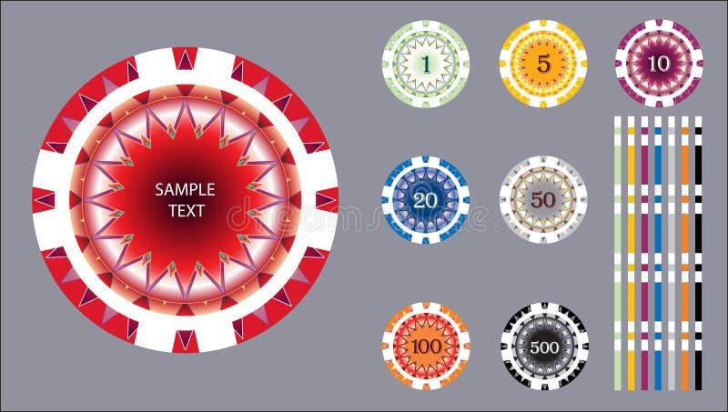 Gambling chip vector illustration