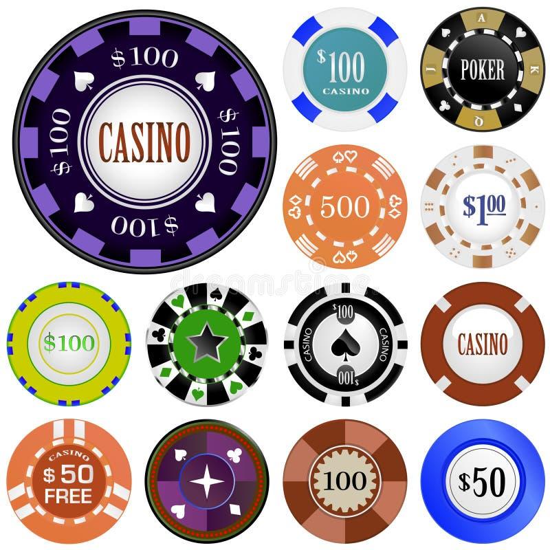 Download Gambling chips stock vector. Image of simple, game, black - 15021795