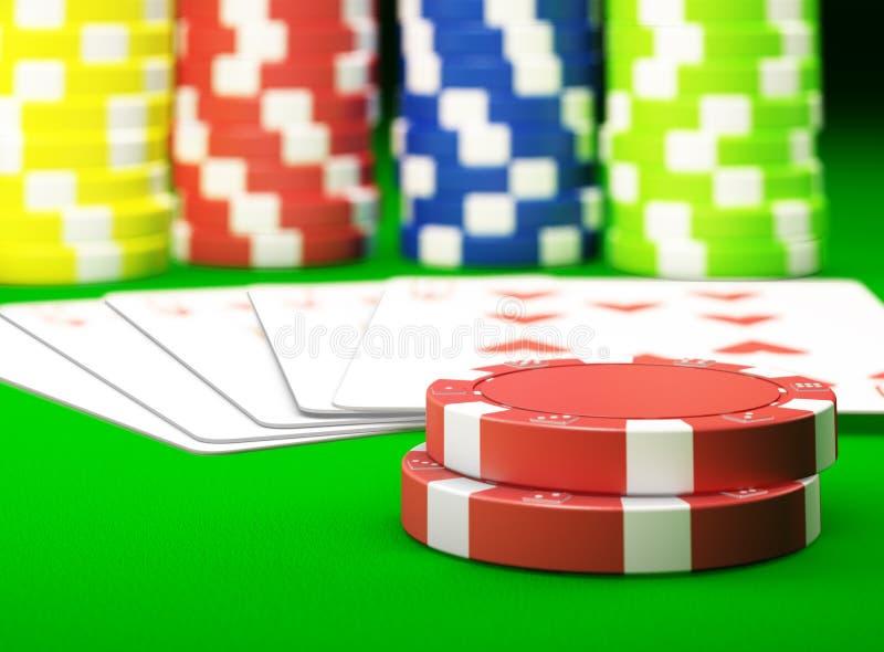 Download Gambling chips stock illustration. Illustration of flush - 23817573