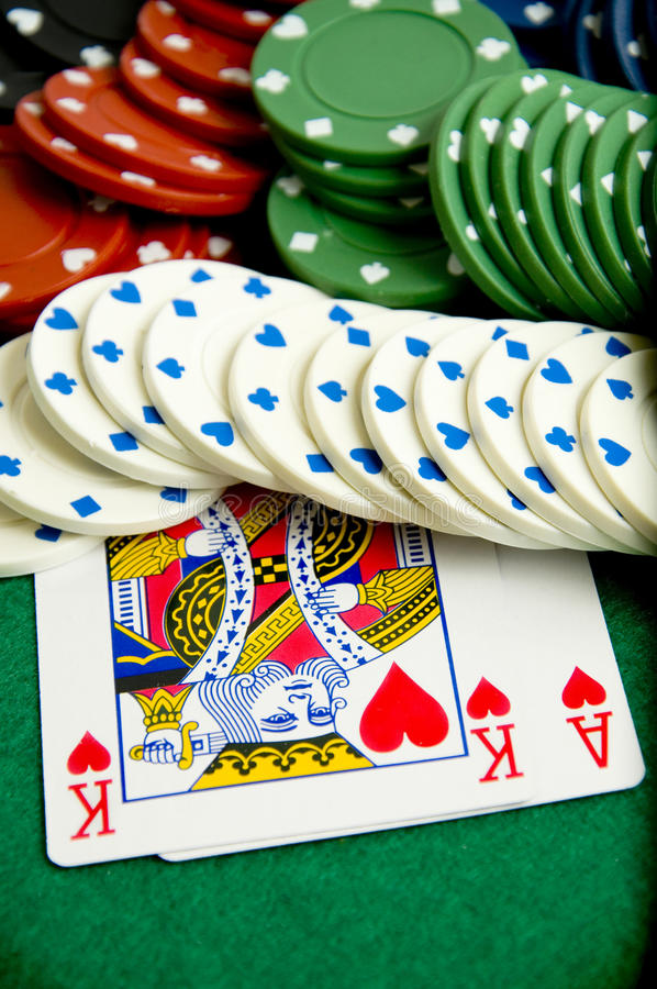 Free Gambling Chips And Cards Royalty Free Stock Photography - 17642847