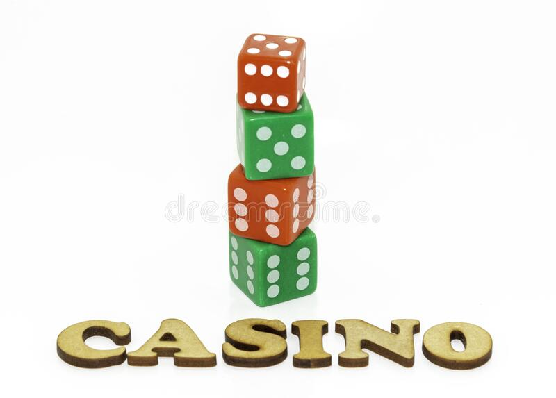 A gambling concept on white. stock photography