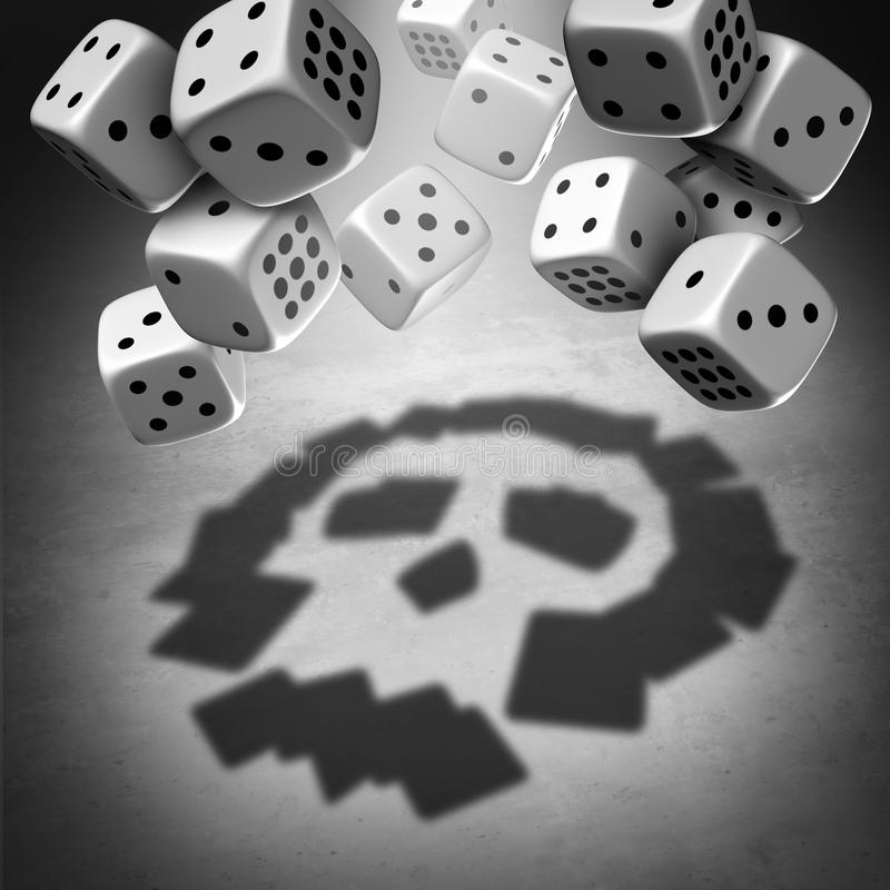 Gambling Danger Concept stock illustration