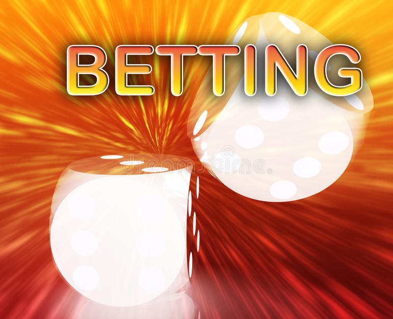 Gambling dice betting background royalty free illustration