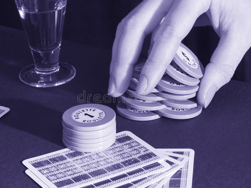 Gambling game stock image