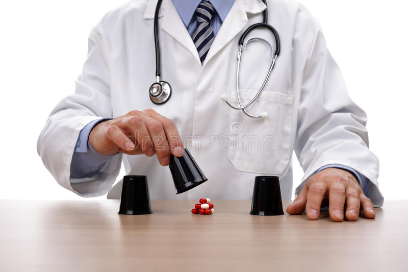 Gambling with healthcare royalty free stock image