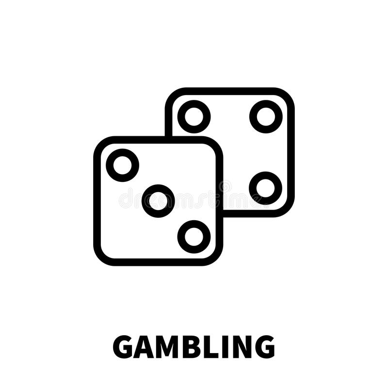 Gambling icon or logo in modern line style. High quality black outline pictogram for web site design and mobile apps. Vector illustration on a white background royalty free illustration