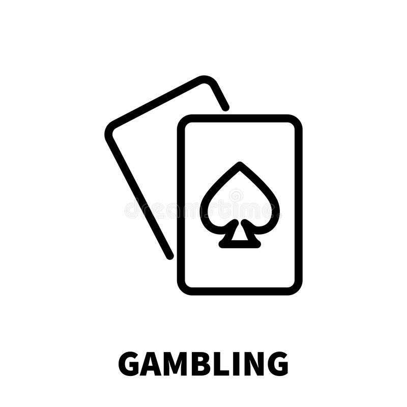 Gambling icon or logo in modern line style. High quality black outline pictogram for web site design and mobile apps. Vector illustration on a white background vector illustration