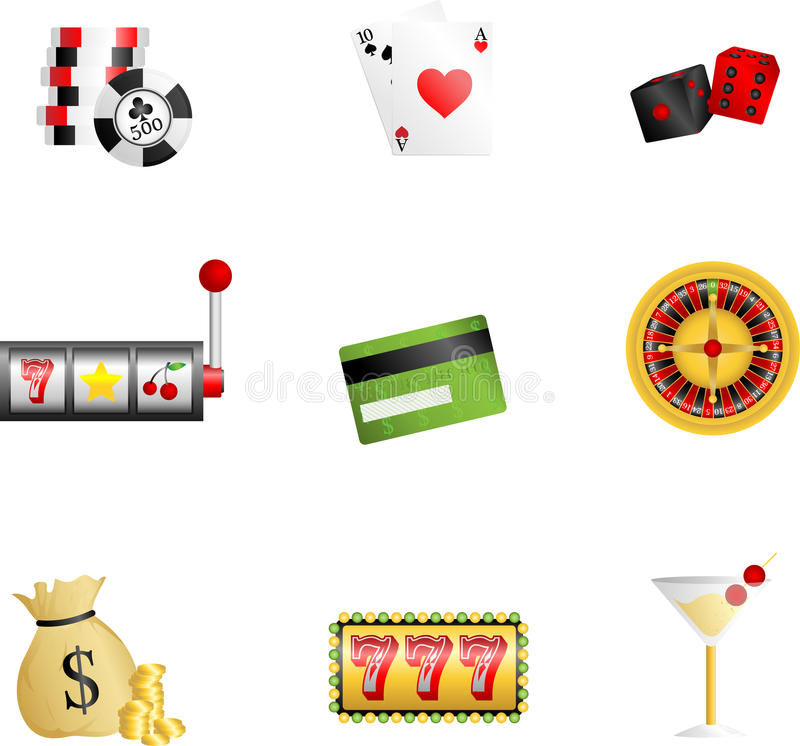 Download Gambling icons stock vector. Image of betting, credit - 23022649