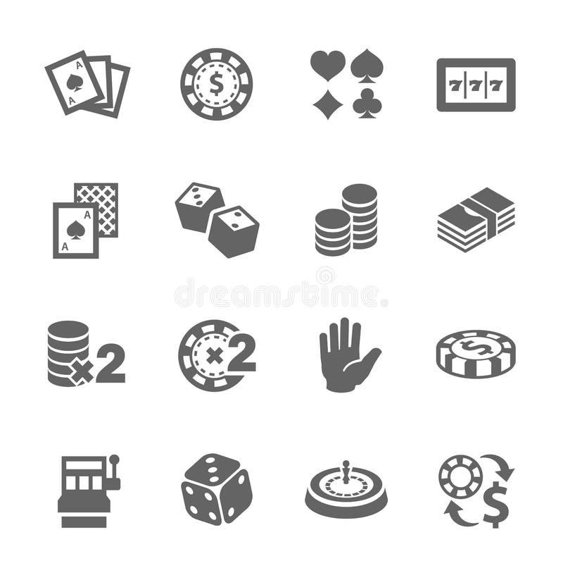 Free Gambling Icons Royalty Free Stock Photos - 35057298