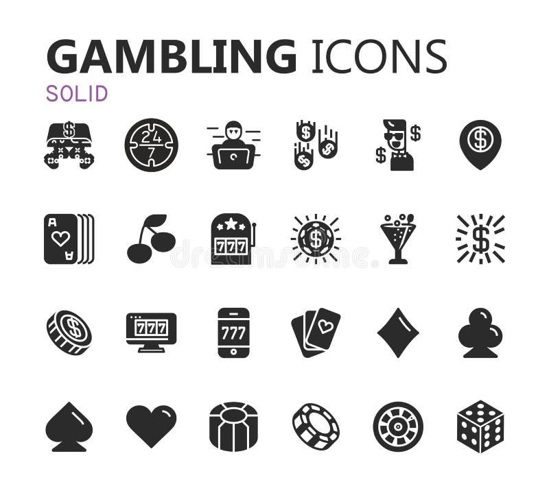 Gambling icons set. Card and casino, poker game. Vector illustration. Gambling icons set. Card and casino, poker game, dice and ace. Vector illustration eps 10 royalty free illustration