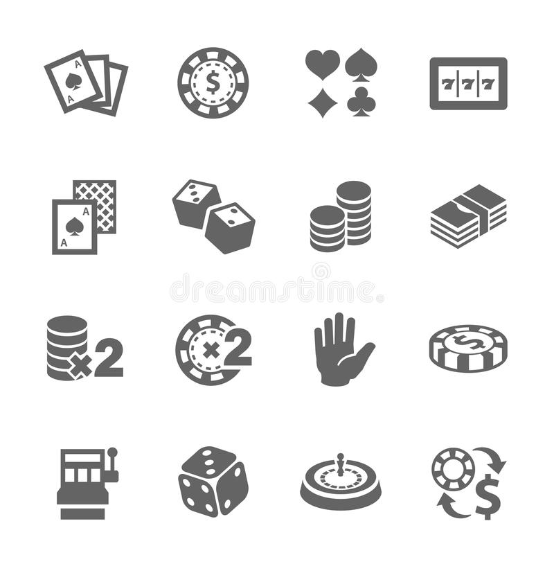 Download Gambling icons stock vector. Illustration of recreational - 35057298