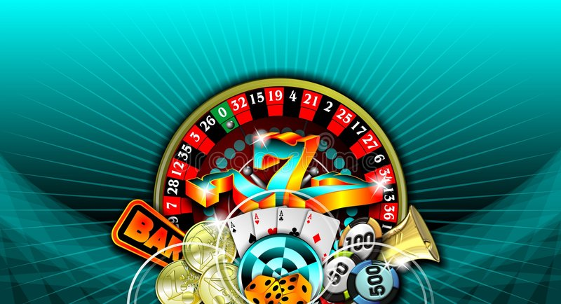 Gambling Illustration With Casino Elements Stock Image
