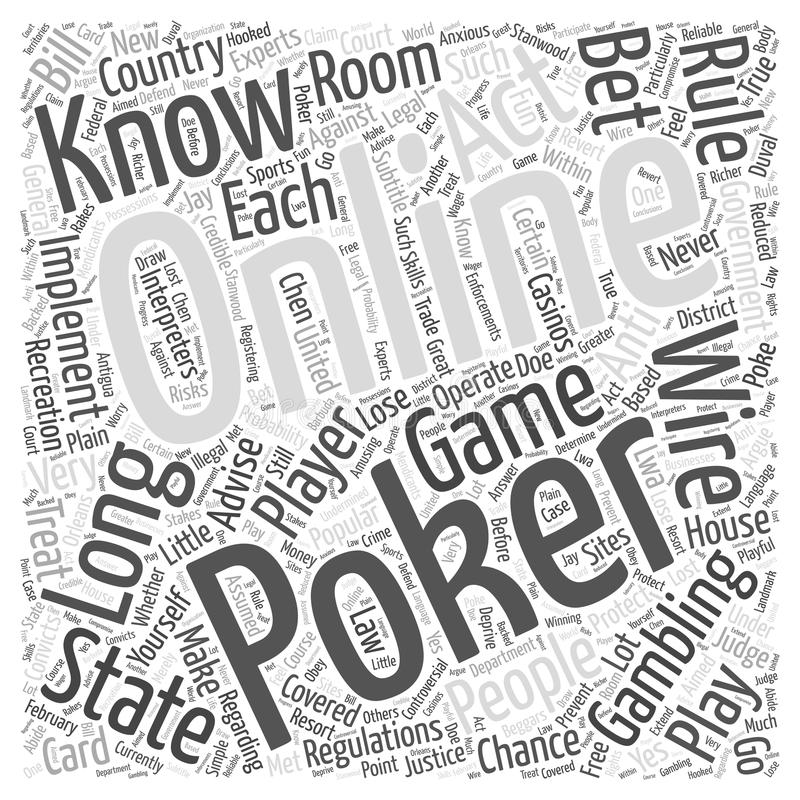 Gambling online poker word cloud concept word cloud concept background stock illustration