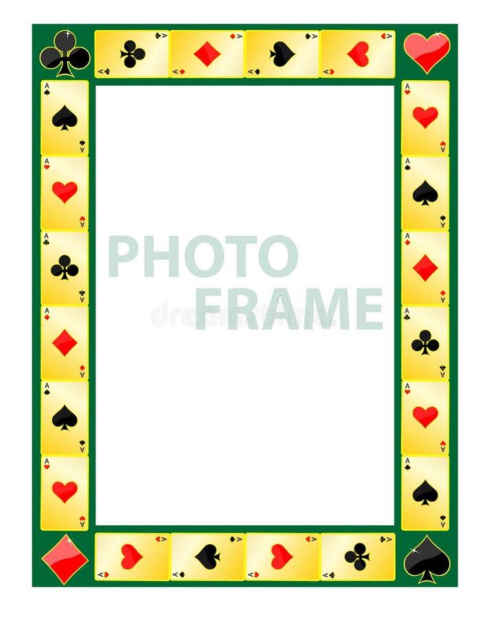 Gambling photo frame stock illustration