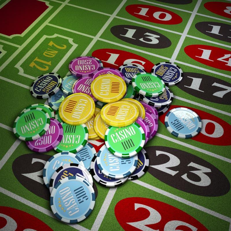 gambling ilustração royalty free