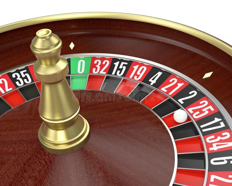 Gambling, roulette game royalty free illustration