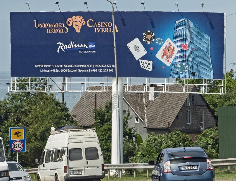 Gambling Tourism in Batumi, Georgia. Georgians and non-Georgians alike flock to Batumi to gamble at one or more of the city`s many casinos; July 5, 2019 stock photo