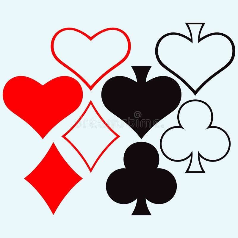 gambling Vetor do estilo ilustração stock