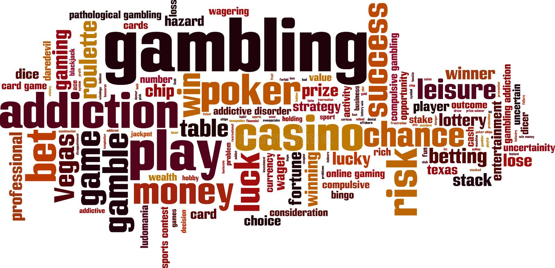 Gambling word cloud. Concept. Vector illustration vector illustration