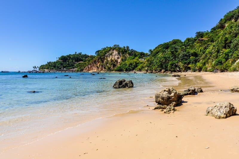 Gamboia plaża w Morro de Sao Paulo, Brazylia obraz royalty free