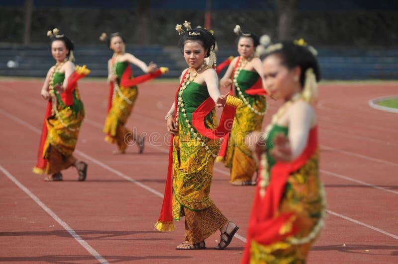 Gambyong tradycyjny Jawajski taniec zdjęcia stock