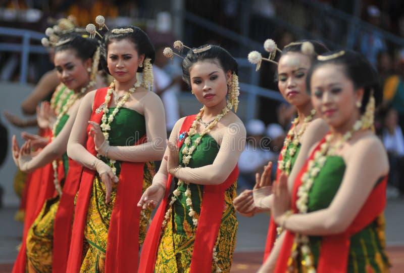 Gambyong tradycyjny Jawajski taniec obrazy royalty free