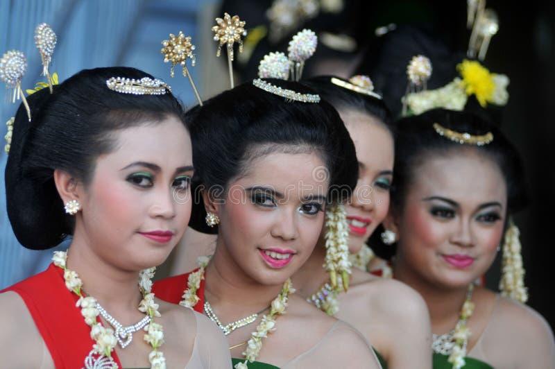 Gambyong Tradycyjny taniec od Jawa fotografia stock