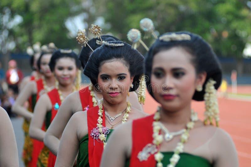 Gambyong Tradycyjny taniec od Jawa zdjęcia royalty free