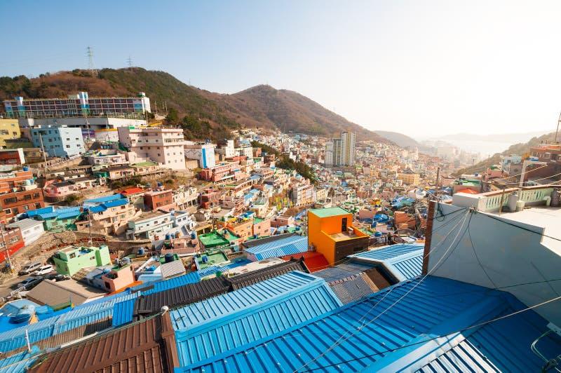 Gamcheon kulturby royaltyfri fotografi