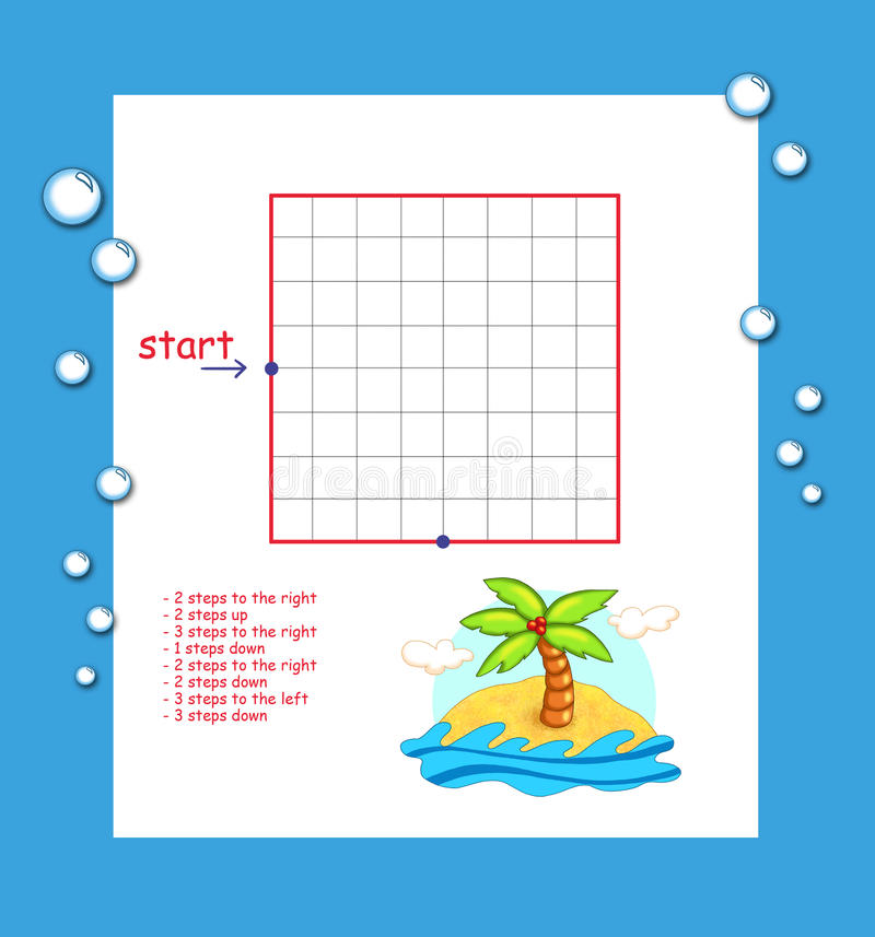Download Game 108, The Journey To The Tropical Island Stock Illustration - Image: 20763287