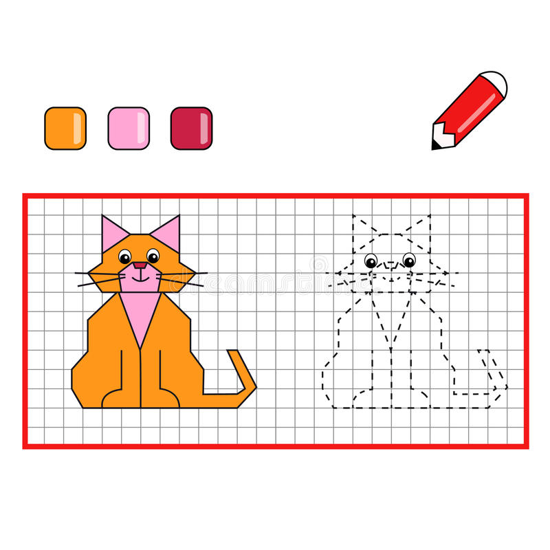 Download Game 120, the cat stock illustration. Image of colored - 20958436