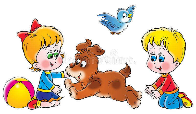 Game. Isolated clip-art and children's illustration for yours design, postcard, album, cover, scrapbook, etc